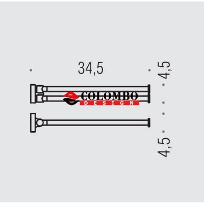 Полотенцедержатель COLOMBO DESIGN PLUS W4913.BM двойной