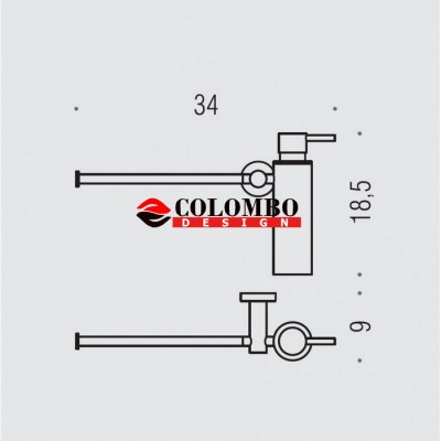 Полотенцедержатель с дозатором COLOMBO DESIGN PLUS W4975.BM настенный