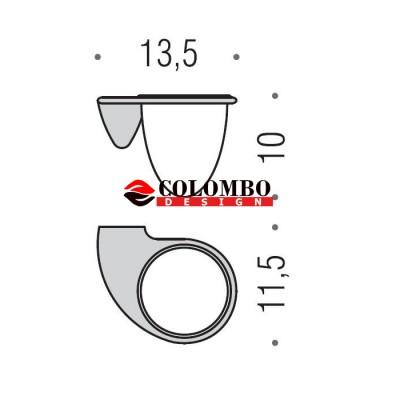 Стакан COLOMBO DESIGN KHALA B1802 настенный