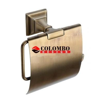 Держатель туалетной бумаги COLOMBO DESIGN PORTOFINO B3291.BR с крышкой