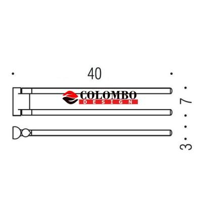 Полотенцедержатель COLOMBO DESIGN LUNA B0112 двойной поворотный