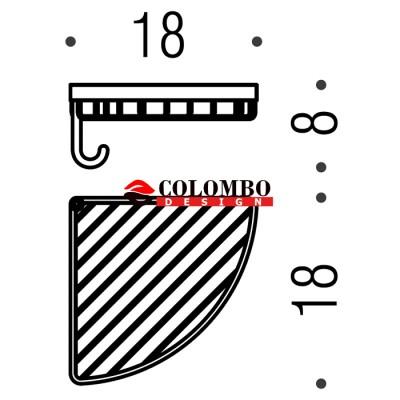 Полочка корзинка COLOMBO DESIGN ANGOLARI B9602 настенная