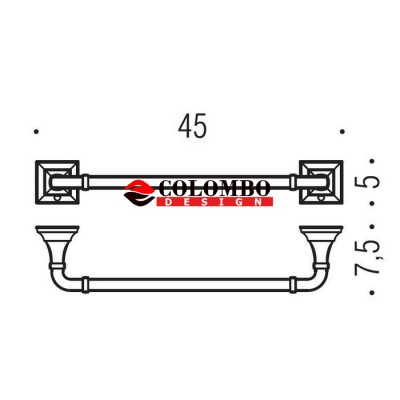 Полотенцедержатель COLOMBO DESIGN PORTOFINO B3210.BR широкий
