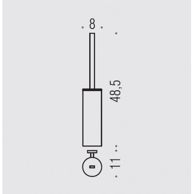 Ершик COLOMBO DESIGN NORDIC B5207 настенный