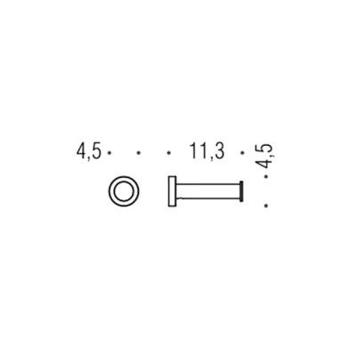 Крючок COLOMBO DESIGN PLUS W4992.BM одинарный