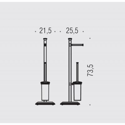 Стойка COLOMBO DESIGN PORTOFINO B3218 напольная с держателем туалетной бумаги и ершиком