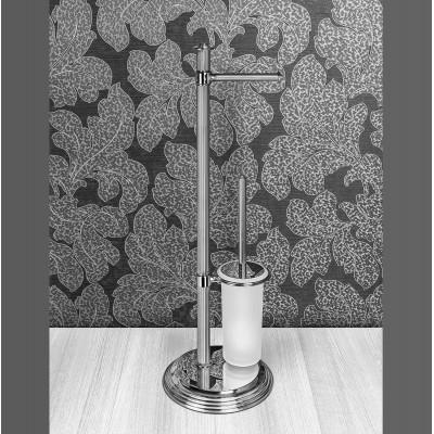 Стойка COLOMBO DESIGN HERMITAGE B3318 напольная с держателем туалетной бумаги и ершиком