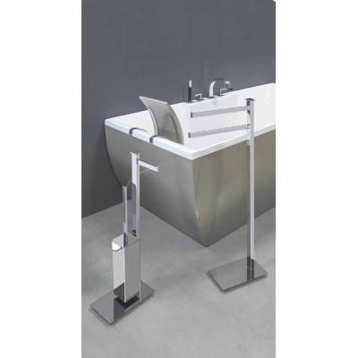 Стойка COLOMBO DESIGN UNITS B9107D напольная с держателем туалетной бумаги и ершиком