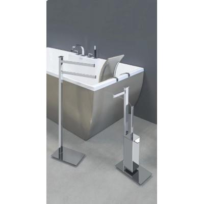 Стойка COLOMBO DESIGN UNITS B9107S напольная с держателем туалетной бумаги и ершиком