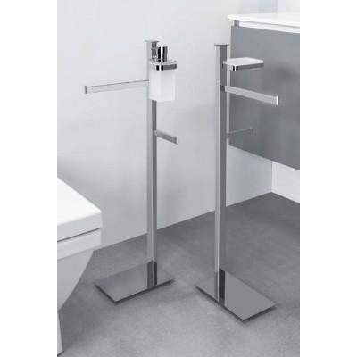 Стойка COLOMBO DESIGN UNITS B9113S напольная с полотенцедержателем с мыльницей с держателем туалетной бумаги