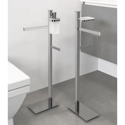 Стойка COLOMBO DESIGN UNITS B9119S напольная с полотенцедержателем с дозатором с держателем туалетной бумаги