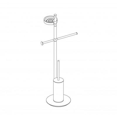 Стойка COLOMBO DESIGN PLANETS B9813 напольная с полотенцедержателем с мыльницей с держателем туалетной бумаги и с ершиком