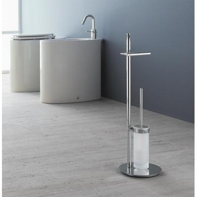 Стойка COLOMBO DESIGN PLANETS B9816 напольная с держателем туалетной бумаги и ершиком