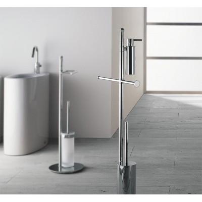 Стойка COLOMBO DESIGN PLANETS B9819 напольная с держателем туалетной бумаги и ершиком