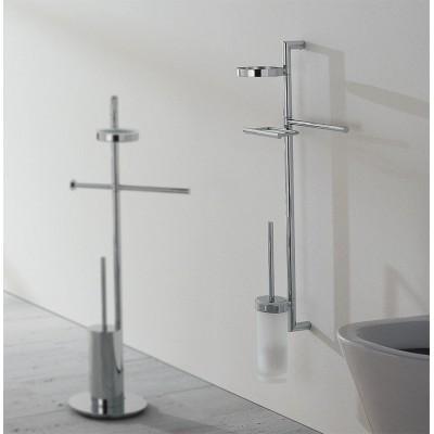 Стойка COLOMBO DESIGN PLANETS B9822 настенная с полотенцедержателем с мыльницей с держателем туалетной бумаги и с ершиком