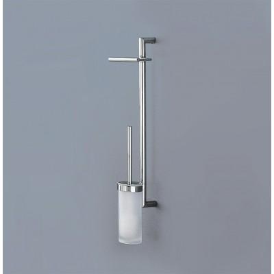 Стойка COLOMBO DESIGN PLANETS B9823 настенная с держателем туалетной бумаги и ершиком