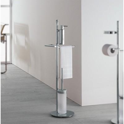 Стойка COLOMBO DESIGN PLANETS B9849 напольная с полотенцедержателем с дозатором с держателем туалетной бумаги и с ершиком