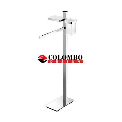 Стойка COLOMBO DESIGN UNITS B9110 напольная с полотенцедержателем и с дозатором