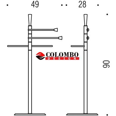 Стойка COLOMBO DESIGN ISOLE B9415N напольная с 3 полотенцедержателями