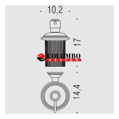 Дозатор COLOMBO DESIGN HERMITAGE B9335.GOLD настенный