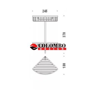 Полочка корзинка COLOMBO DESIGN ANGOLARI B9617 угловая двойная с крючком