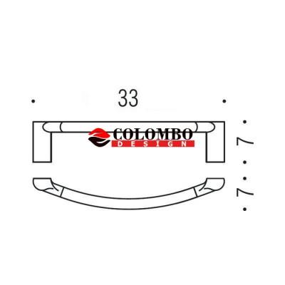 Полотенцедержатель COLOMBO DESIGN LUNA B0131 широкий 33 см