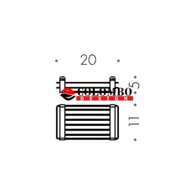 Полочка корзинка COLOMBO DESIGN ANGOLARI B9631 одинарная