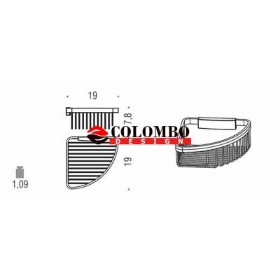Полочка корзинка COLOMBO DESIGN ANGOLARI B9648 угловая одинарная съемная
