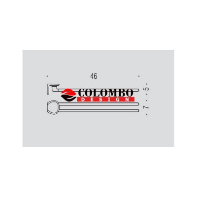Полотенцедержатель COLOMBO DESIGN KHALA B1813 двойной