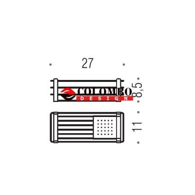Полочка корзинка COLOMBO DESIGN ANGOLARI B9632 одинарная с металлической полочкой
