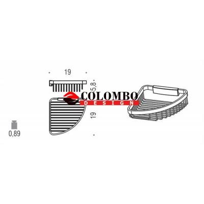 Полочка корзинка COLOMBO DESIGN ANGOLARI B9649 угловая одинарная съемная