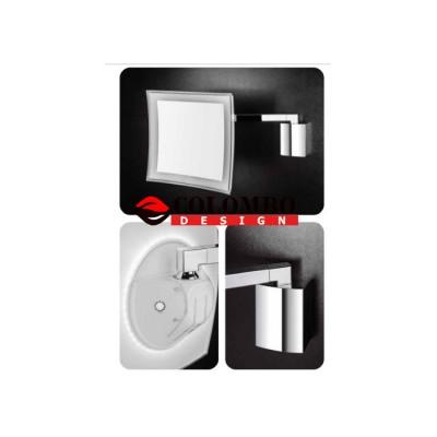 Косметическое зеркало COLOMBO DESIGN SPECCHI INGRANDITORI B9760 настенное с подсветкой увеличение 3,5 раза питание от сети