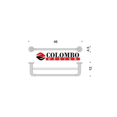 Полотенцедержатель COLOMBO DESIGN BASIC B2788 широкий двойной