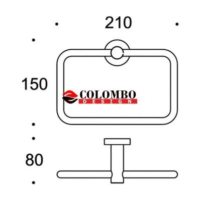 Полотенцедержатель COLOMBO DESIGN PLUS W4931.GM кольцо
