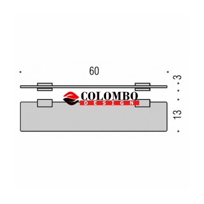 Полочка COLOMBO DESIGN LOOK B1616 стеклянная