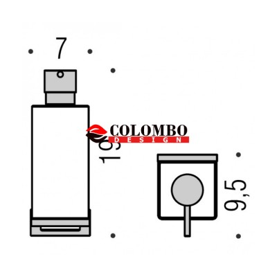 Дозатор COLOMBO DESIGN LOOK B9316.NM настенный