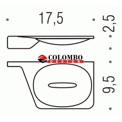 Мыльница COLOMBO DESIGN ALIZE B2501DX настенная
