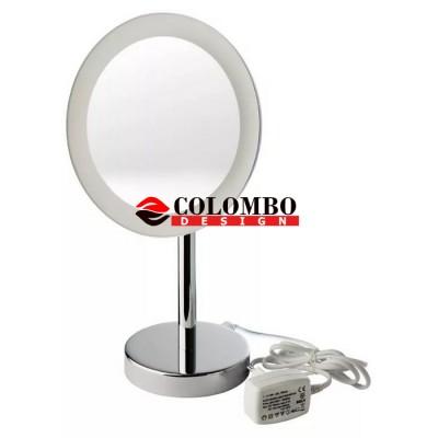 Косметическое зеркало COLOMBO DESIGN SPECCHI INGRANDITORI B9750 настольное с подсветкой увеличение 3 раза питание от розетки