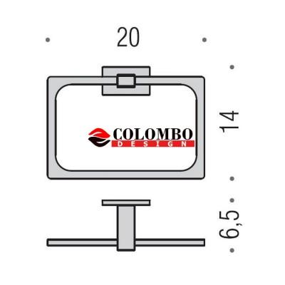 Полотенцедержатель COLOMBO DESIGN LOOK B1631 кольцо