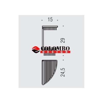 Полочка корзинка COLOMBO DESIGN ANGOLARI B9612 угловая двойная
