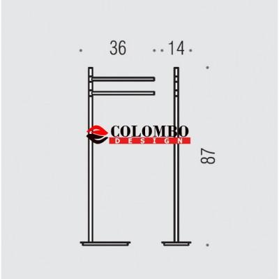 Стойка COLOMBO DESIGN SQUARE B9901.NM напольная с полотенцедержателем