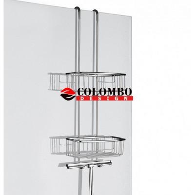 Полочка корзинка COLOMBO DESIGN CAVALLETTI E SEDILI B9635 навесная двойная с крючками