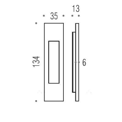 Ручка Colombo ID411 для раздвижной двери золото