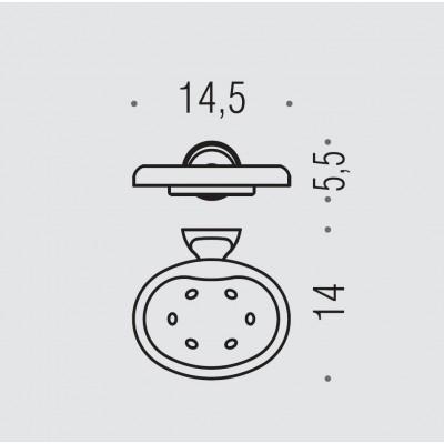 Мыльница COLOMBO DESIGN MELO B1201 настенная