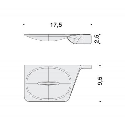 Мыльница COLOMBO DESIGN ALIZE B2501SX настенная