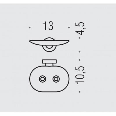 Мыльница COLOMBO DESIGN BASIC B2781 настенная несъемная