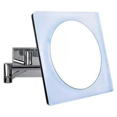Косметическое зеркало COLOMBO DESIGN SPECCHI INGRANDITORI B9756 настенное с подсветкой увеличение 3 раза питание от сети