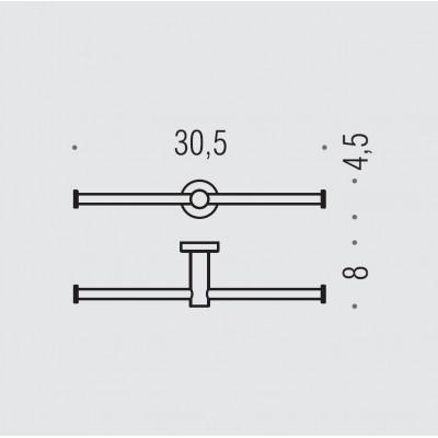 Держатель туалетной бумаги COLOMBO DESIGN PLUS W4990 двойной без крышки