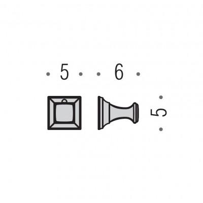 Крючок COLOMBO DESIGN PORTOFINO CD97.BR одинарный большой