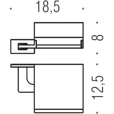 Держатель туалетной бумаги COLOMBO DESIGN LOOK B1691.BM с крышкой